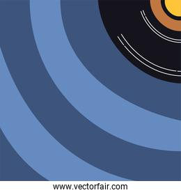 music vinyl disk record icon