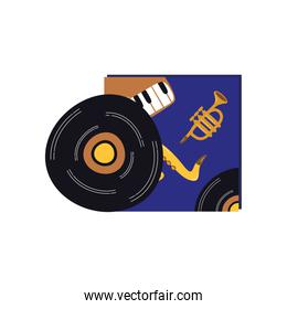 music vinyl disk record isolated icon