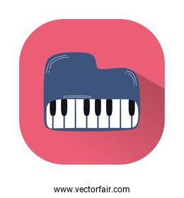 piano musical instrument line and fill style icon