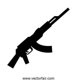 soldier rifle weapon isolated icon