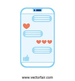 smartphone device with social media technology