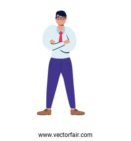 young businessman avatar character icon