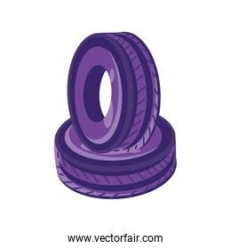 tires for crossfit on white background