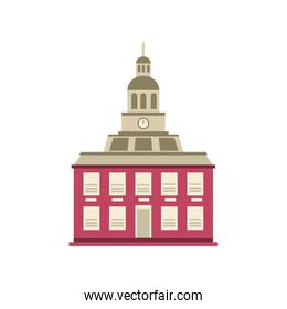 capitol building on white background