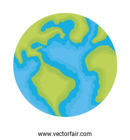 world planet earth ecology icon