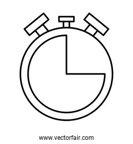 chronometer timer counter line style icon