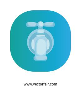 water tap faucet isolated icon