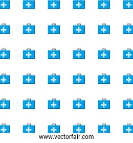 Medical kits with cross background vector design