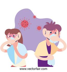 couple young with virus symptoms