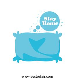 stay at home campaign with pillow