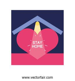 stay at home campaign with heart
