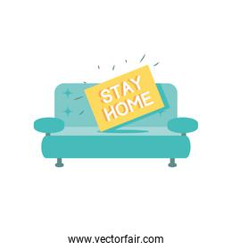 stay at home campaign with couch