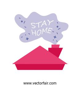 stay at home campaign with house roof