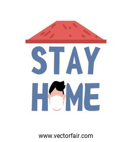 stay at home campaign with man