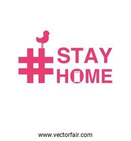 stay at home, awareness social media campaign and coronavirus prevention