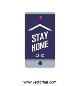 stay at home campaign with smartphone screen
