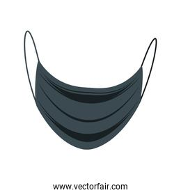 medical mask in anti fluid fabric on white background