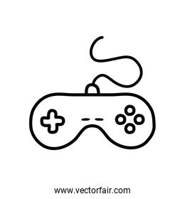 videogame control icon, line style