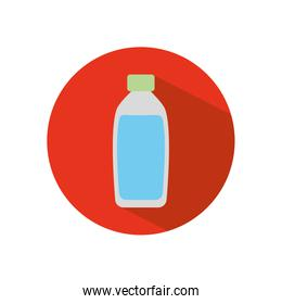 stop the spread concept, water bottle icon, block flat style