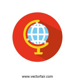 stop the spread concept, geography tool icon, block flat style