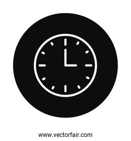 clock time icon, block style
