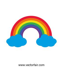 rainbow and clouds icon