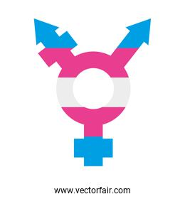 pride concept, colorful Transgender symbol icon, flat style
