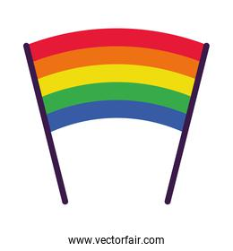 pride concept, lgbt pennant icon, flat style