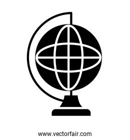 geography tool icon, silhouette style