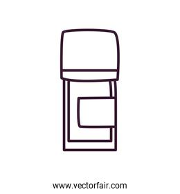 Medicine jar line style icon vector design