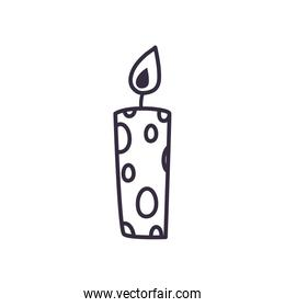 Candle line style iconvector design