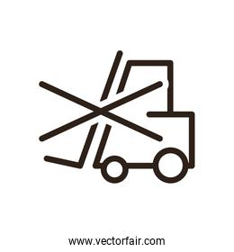 Do not use forklift flat style icon vector design