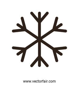 Snowflake flat style icon vector design
