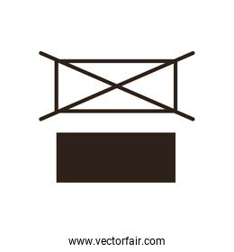 do not stack flat style icon vector design