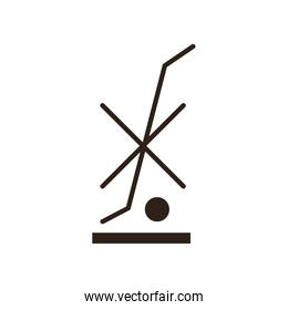 Do not use hand truck flat style icon vector design