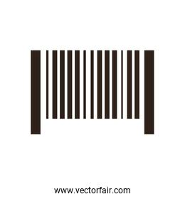 Bar code flat style icon vector design