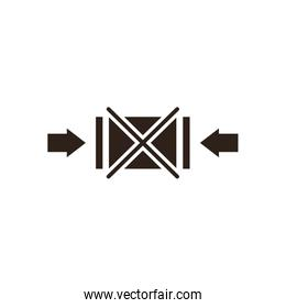 Do not clamp as indicated flat style icon vector design