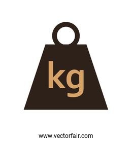 Package kg weight flat style icon vector design