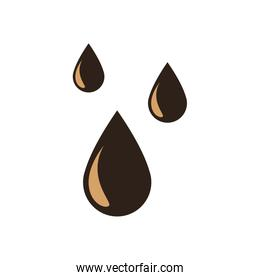 Isolated drops flat style icon vector design