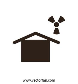 House and biohazard flat style icon vector design