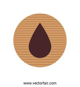 Isolated drop line style icon vector design