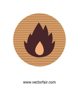 Isolated flame line style icon vector design
