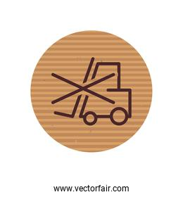 Do not use forklift line style icon vector design
