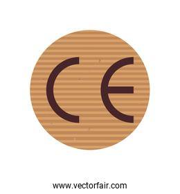 ce marking line style icon vector design