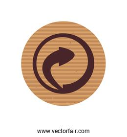 Isolated recycle line style icon vector design