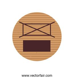 do not stack line style icon vector design