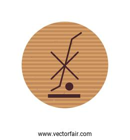 Do not use hand truck line style icon vector design