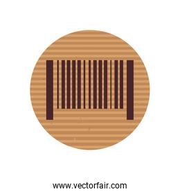 Bar code line style icon vector design