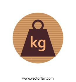 Package kg weight line style icon vector design