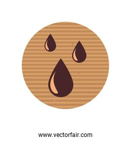 Isolated drops line style icon vector design